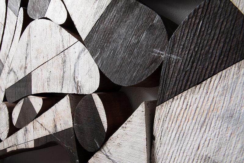 Mel Kendrick, 'D2', 2018, Sculpture, Mahogany, Japan color, and charcoal, David Nolan Gallery