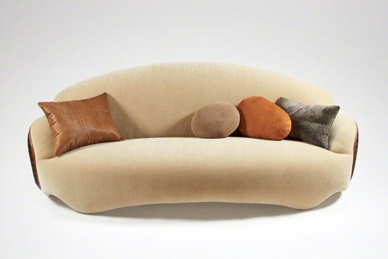 Mattia Bonetti, 'Sofa 'Shield'', 2014, Design/Decorative Art, Carved wood, mohair, David Gill Gallery