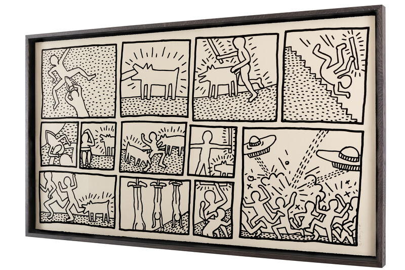 Keith Haring, 'Untitled (The Blueprint Drawings - No. 1)', 1990, Print, Silkscreen, Artificial Gallery