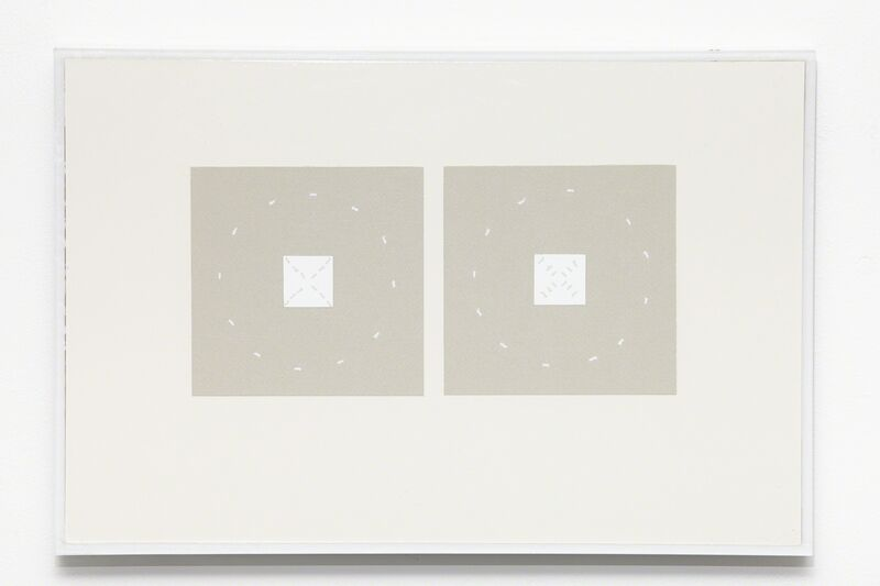 Kristján Gudmundsson, 'Cause and consequence no. 3', 1974, Drawing, Collage or other Work on Paper, Correction paper, cardboard, i8 Gallery