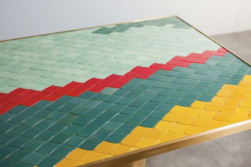 India Mahdavi, 'Landscapes table #2', 2013, Design/Decorative Art, Handmade ceramic mosaic and pure brass structure, Carwan Gallery