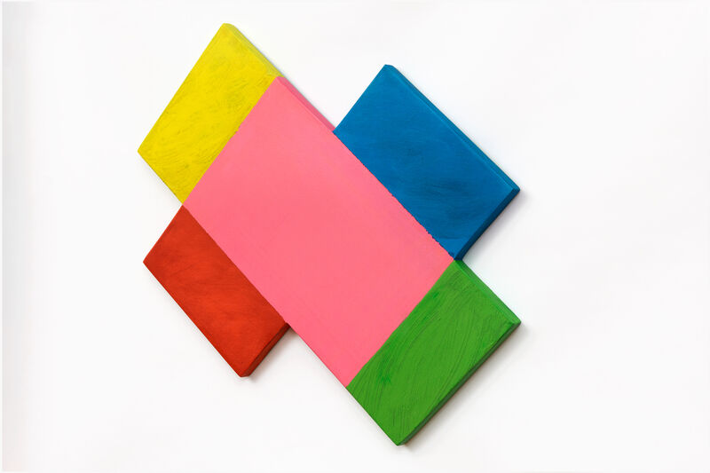 Mary Heilmann, 'Geometric Spin', 2021, Print, Archival pigment inks on shaped Duna Board with acrylic paint, Carolina Nitsch Contemporary Art