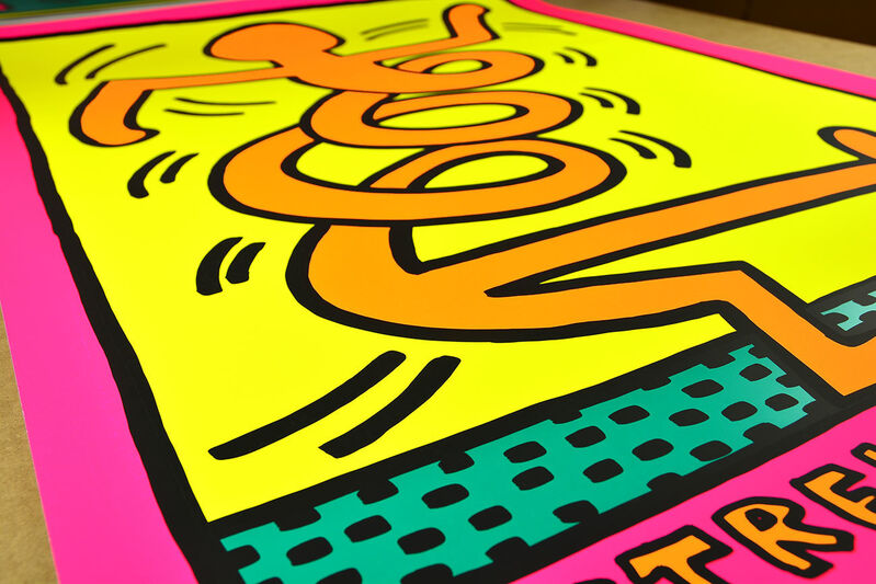 Keith Haring, 'Montreux, 1983 (Pink)', 1983, Print, Screen print on paper, ARTETRAMA