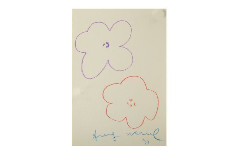 Andy Warhol, 'Flowers', Drawing, Collage or other Work on Paper, Coloured pencils, Chiswick Auctions