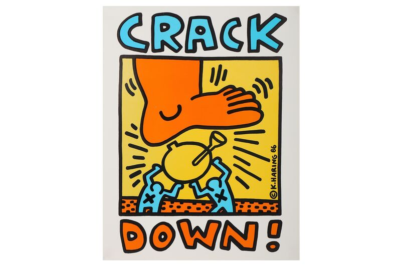 Keith Haring, 'Crack Down', 1986, Print, Offset lithograph poster, Chiswick Auctions