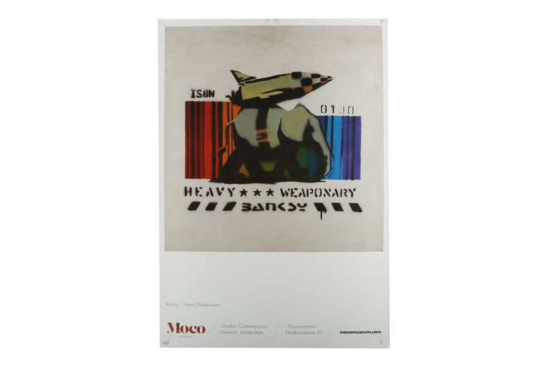 Banksy, 'Heavy Weapon', Posters, Official exhibition poster in original packaging, Chiswick Auctions