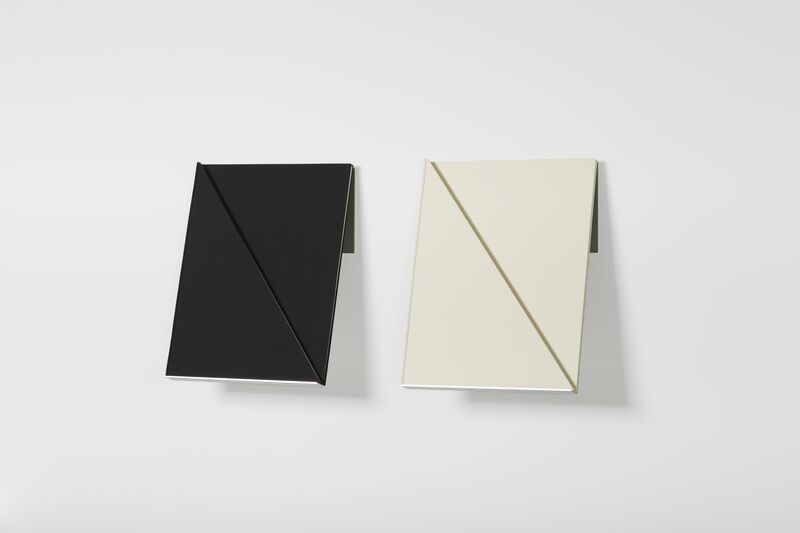 Fernanda Fragateiro, 'Double Black and White, 3', 2016, Sculpture, Stainless steel and handmade notebooks with fabric cover, Bienvenu Steinberg & Partner