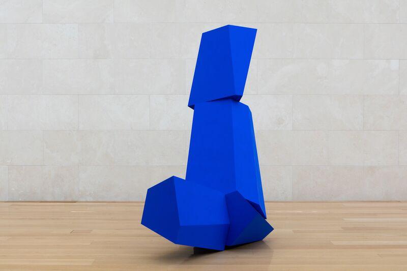 Joel Shapiro, ' Really Blue (after all)', 2016, Sculpture, Wood and casein, Nasher Sculpture Center