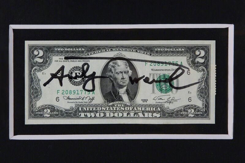 Andy Warhol, '2 Jefferson's Dollars', 1976, Print, Bertolami Fine Arts