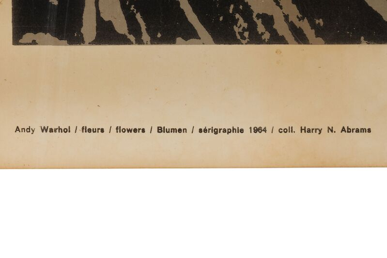 Andy Warhol, 'Flowers Poster Museum Krefeld x Gallery Castelli', 1964, Print, Serigraph on brown paper, Chiswick Auctions