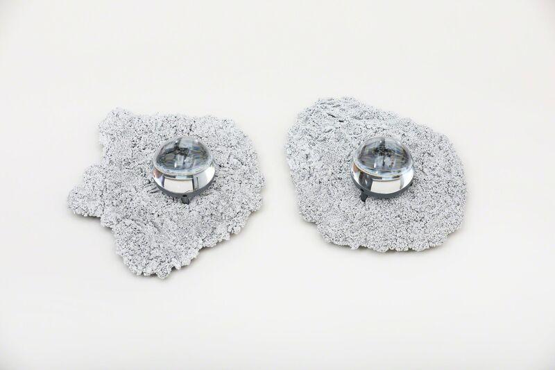 Chen Chen and Kai Williams, 'Silvered Caviar Sconces', 2018, Design/Decorative Art, Steel shot, epoxy, electrical components 100-120 w, Spazio Nobile