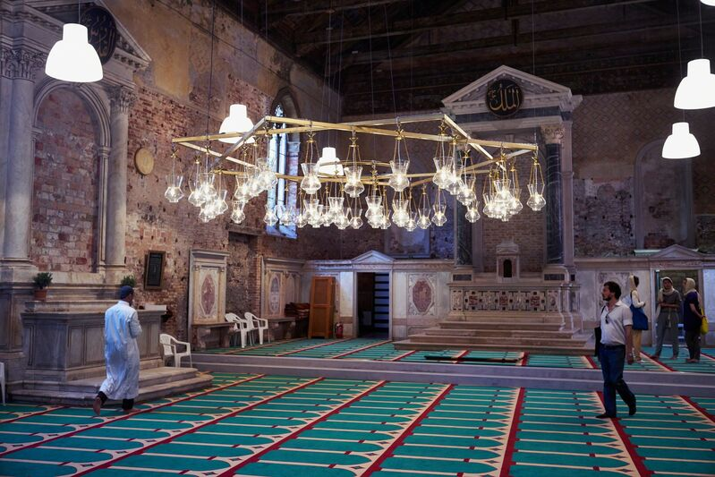 Christoph Büchel, 'THE MOSQUE: The First Mosque in the Historic City of Venice (Installation view)', 2015, Installation, 56th Venice Biennale
