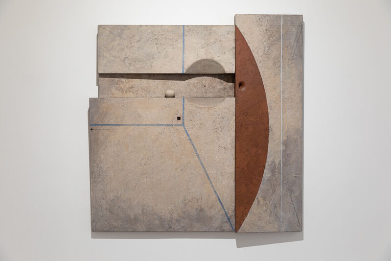 Marcelo Bonevardi, 'Immured', 1969, Painting, Acrylic on textured substrate on wood construction, painted wood element, Leon Tovar Gallery