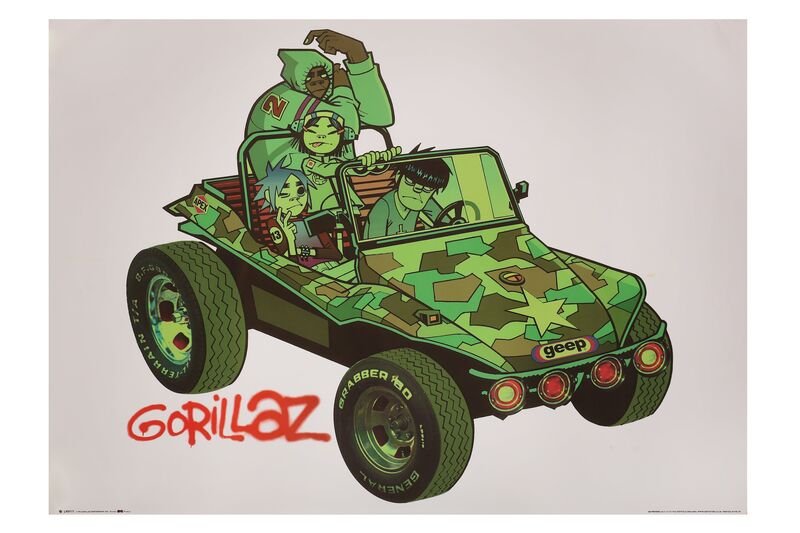 Jamie Hewlett, 'White Gorillaz Poster', 2001, Posters, Offset lithograph, Chiswick Auctions