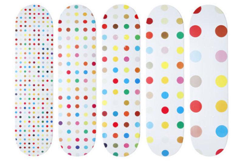 Damien Hirst, 'Untitled ', 2009, Sculpture, Complete series of 5 dot decks, HOFA Gallery (House of Fine Art)