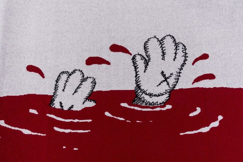 KAWS, 'Untitled (Red)', 2019, Textile Arts, 100% cashmere blanket, Forum Auctions