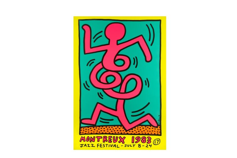 Keith Haring, 'Montreux Jazz Festival', 1983, Print, Each screenprint in colours on wove paper, Chiswick Auctions