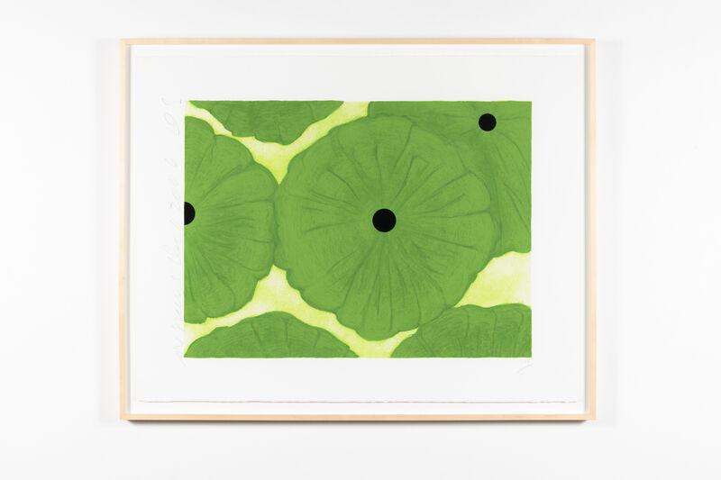 Donald Sultan, 'Six Greens', 2006, Print, Screenprint with flocking, Leslie Sacks Gallery