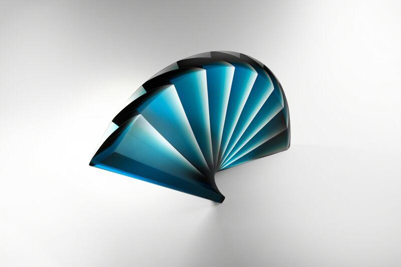 """Laszlo Lukacsi, '""""Blue Fan""""', 2015, Sculpture, Glass, J. Lohmann Gallery"""