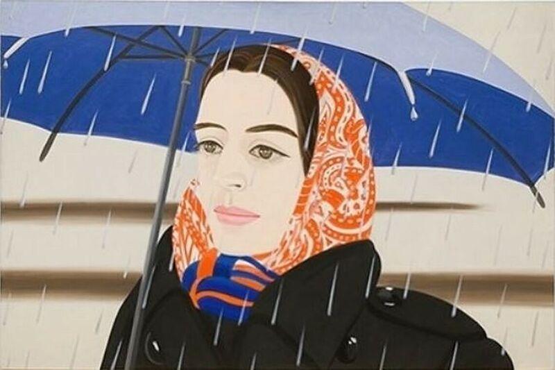 Alex Katz, 'Blue Umbrella II', 2019, Print, Archival pigment print on paper., Frank Fluegel Gallery