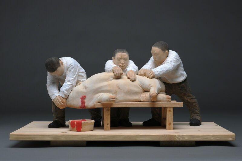 Junhua Ren, 'Butchering', 2015, Sculpture, Basswood, Line Gallery