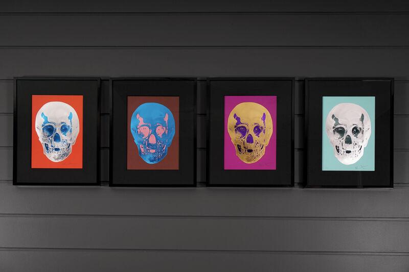 Damien Hirst, ''Till Death Do Us Part Skull, Red/Silver', 2012, Print, Silkscreen, Foil-Block, Glaze, Arton Contemporary