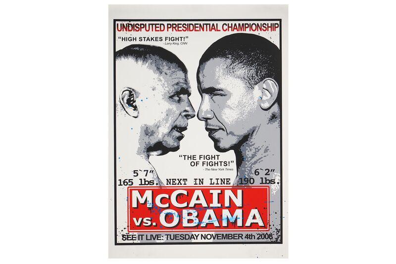 Mr. Brainwash, 'Obama vs McCain', 2008, Print, Silkscreen, Chiswick Auctions