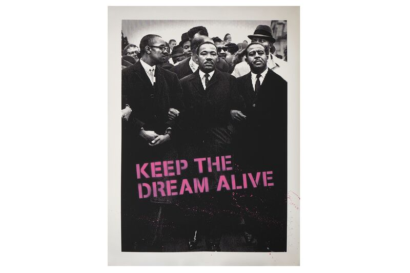 Mr. Brainwash, 'Keep the Dream Alive (MLK-pink)', Print, Silkscreen, Chiswick Auctions