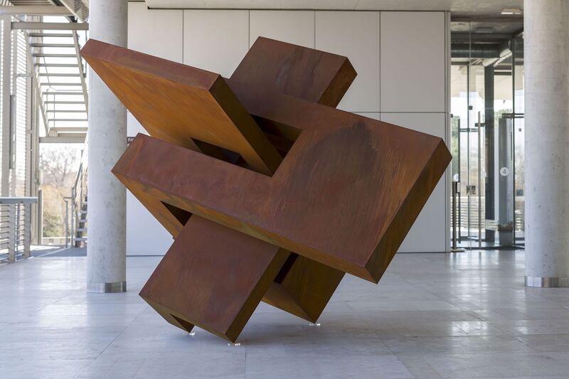 Arturo Berned, 'Cabeza XVII', 2017, Sculpture, Corten steel plate 6mm thick oxidised finish, Leon Tovar Gallery