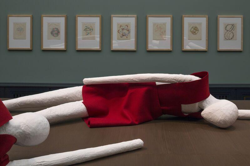 Kelly Nipper, 'Figure Underlay, Felt Overlay U, X, Y', 2013, Installation, Plaster, cardboard, wire, felt., Hammer Museum