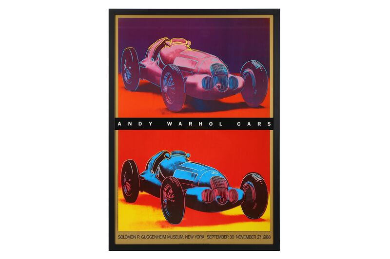 Andy Warhol, 'Cars', 1988, Posters, Guggenheim exhibition poster, Chiswick Auctions