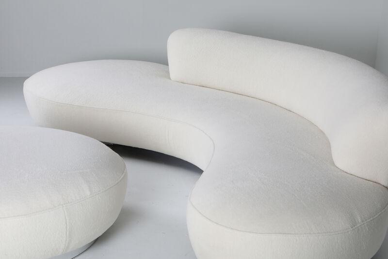 Vladimir Kagan, 'Serpentine Sofa with Ottoman in Pierre Frey Lambswool Velvet', ca. 1956, Design/Decorative Art, Aluminium, wool, Everyday Gallery