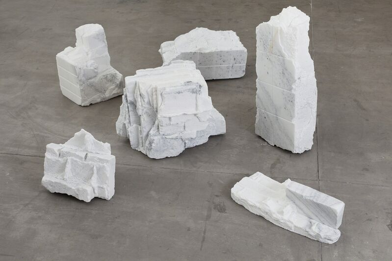 Hu Qingyan, 'Souvenir', 2013, Sculpture, Marble (replica of a rubble piece from a ruined hutong, cut out of a single marble block), Galerie Urs Meile