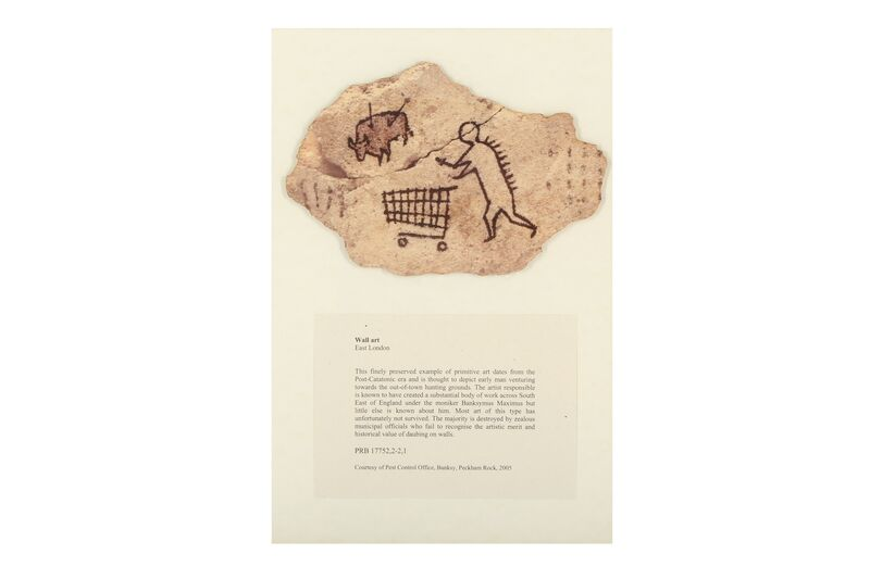 Banksy, 'Peckham Rock', Other, Wooden postcard, Chiswick Auctions