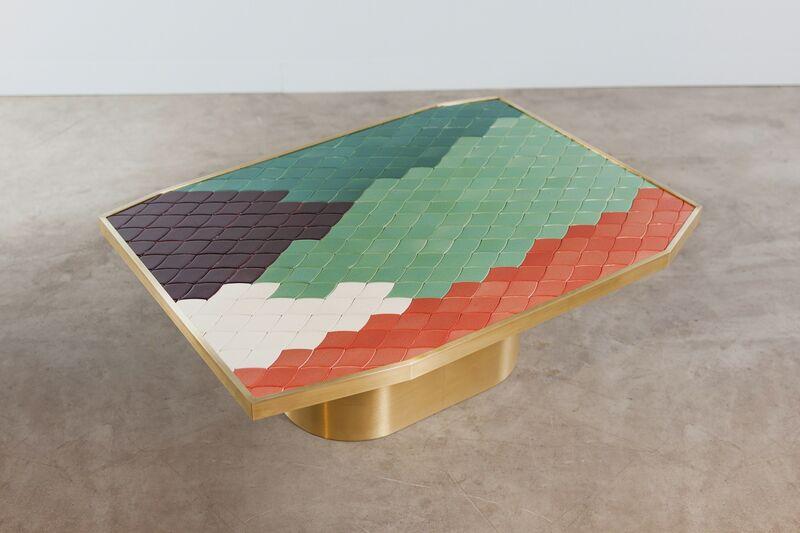 India Mahdavi, 'Landscapes table #3', 2013, Design/Decorative Art, Handmade ceramic mosaic and pure brass structure, Carwan Gallery