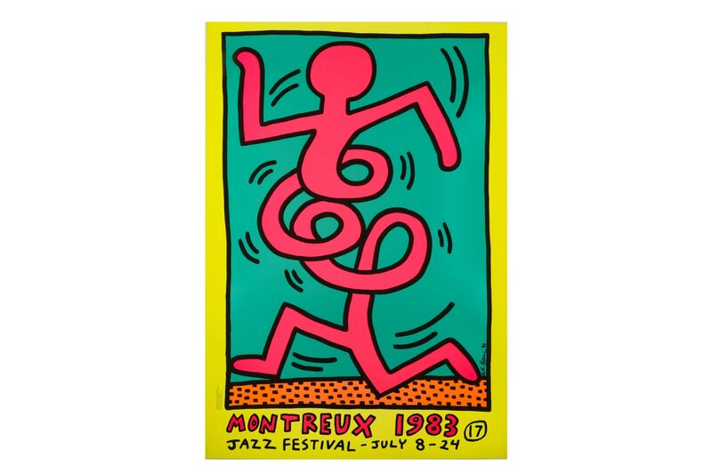 Keith Haring, 'Montreux Jazz Festival', 1983, Print, Screenprint in colours on wove paper, Chiswick Auctions