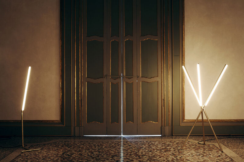 Michael Anastassiades, 'Lit Lines, Floor Light 3', 2011, Design/Decorative Art, Satin or patinated brass, Nilufar Gallery