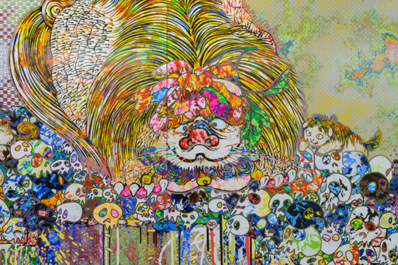 Takashi Murakami, 'Lion Occupying the Throne in My Heart', 2018, Mixed Media, Gold leaf and acrylic mounted on aluminum frame, PinchukArtCentre