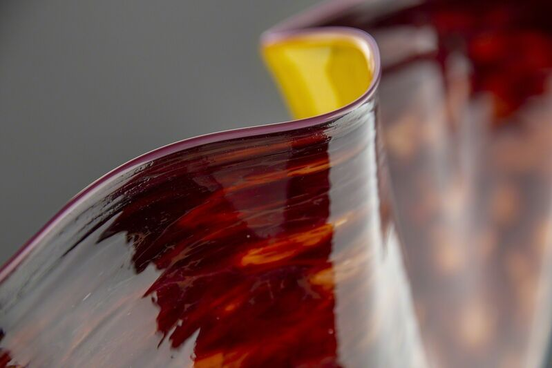 Dale Chihuly, 'Large Macchia, Deep Red with Yellow Interior', 1994, Sculpture, Glass, Modern Artifact