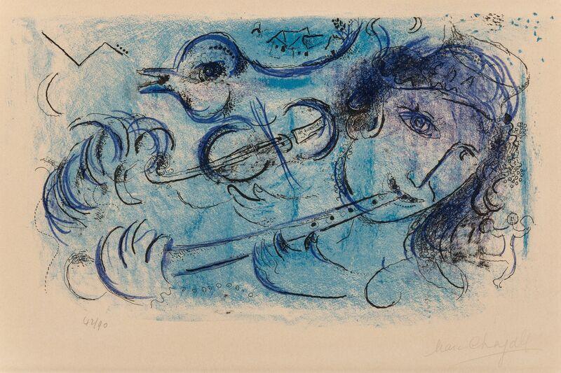 Marc Chagall, 'Le Joueur de Flute', 1957, Print, Lithograph in colors on Arches paper, Heritage Auctions