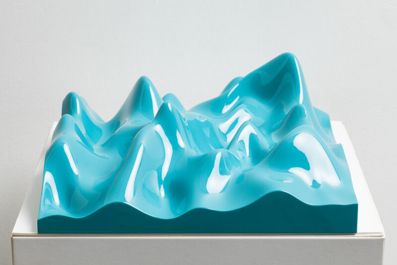 Peter Saville, 'Unknown Pleasure, Oriental Blue', 2011, Sculpture, Resin, Polyurethane Paint. Series of sculptures, each unique., Paul Stolper Gallery