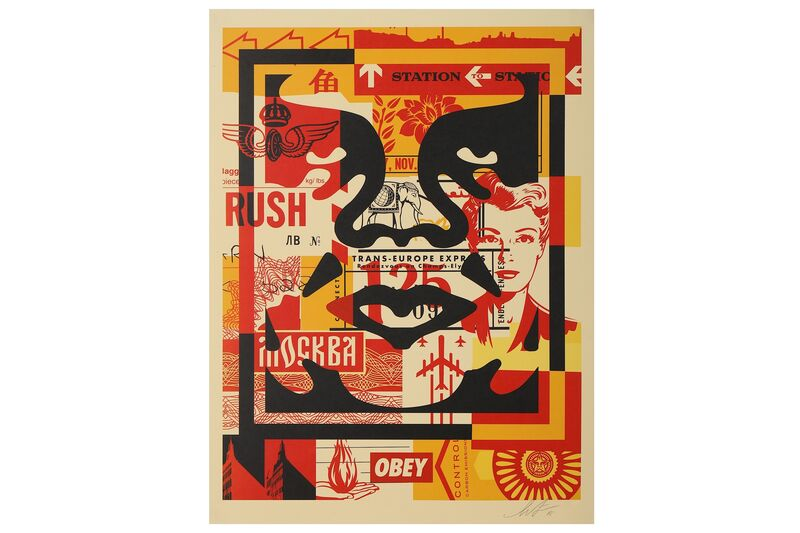 Shepard Fairey, 'OBEY Three Faces Collage no.2', Print, Offset lithograph, Chiswick Auctions