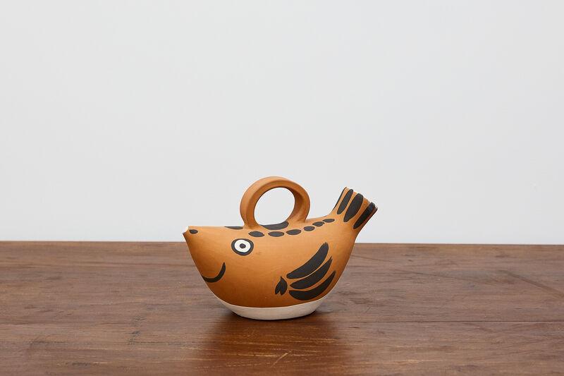 Pablo Picasso, 'Sujet Poisson pitcher', 1952, Sculpture, Earthenware with engobe decoration, BASTIAN