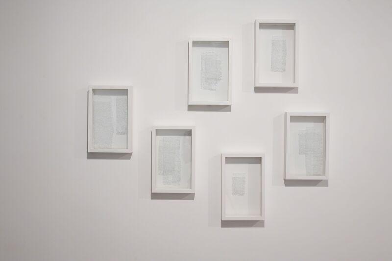 Nicène Kossentini, 'Rasaîl', 2012, Painting, White ink on glass, Sabrina Amrani