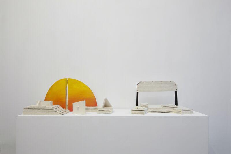 Ana Mazzei, 'Paisagem inventada', 2014, Installation, Felt, wood and painting, Galerie Emmanuel Hervé