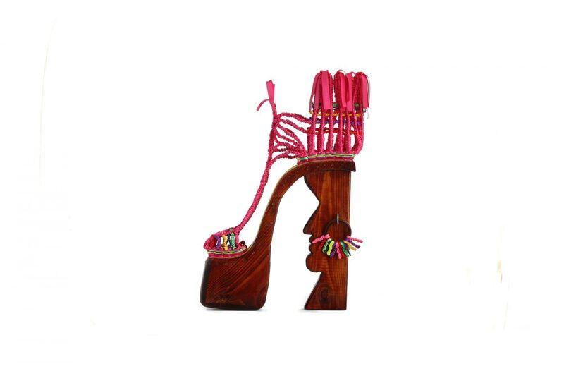 Ravit Mishli, 'Black Shoes', 2015, Sculpture, Wood, Sandpaper, Satin Ribbons, Corridor Contemporary