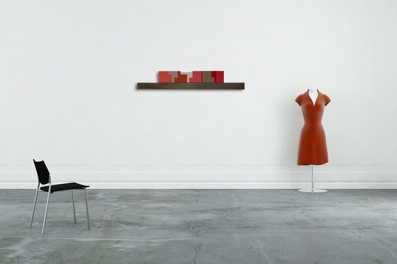 jean feinberg, 'Rachet Red (Abstract painting)', 2014, Painting, Oil on wood and found wood, IdeelArt