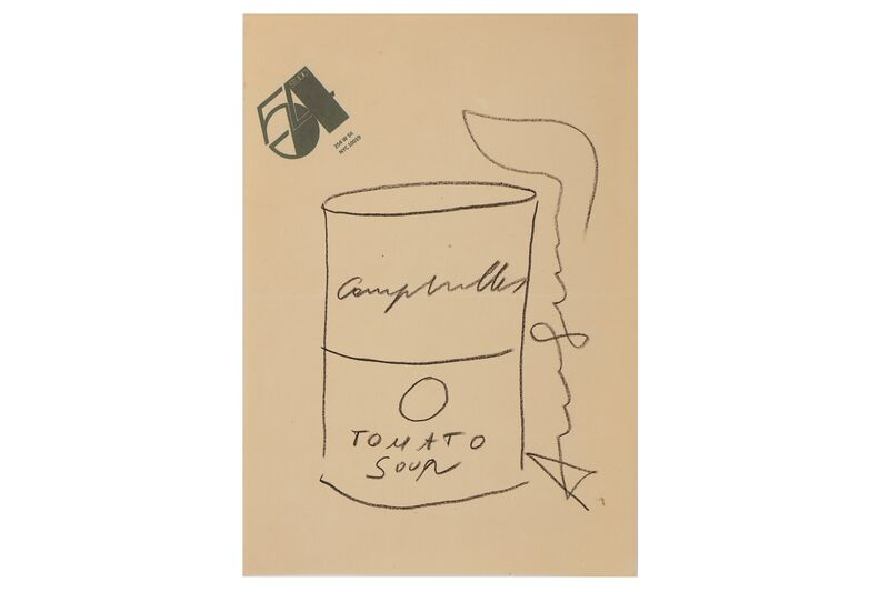 Andy Warhol, 'Tomato Soup Can (Sketch)', Pencil on paper, Chiswick Auctions