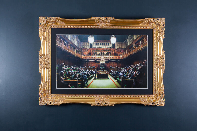 Banksy, 'Monkey Parliament', 2009, Print, Offset Lithograph, The Drang Gallery