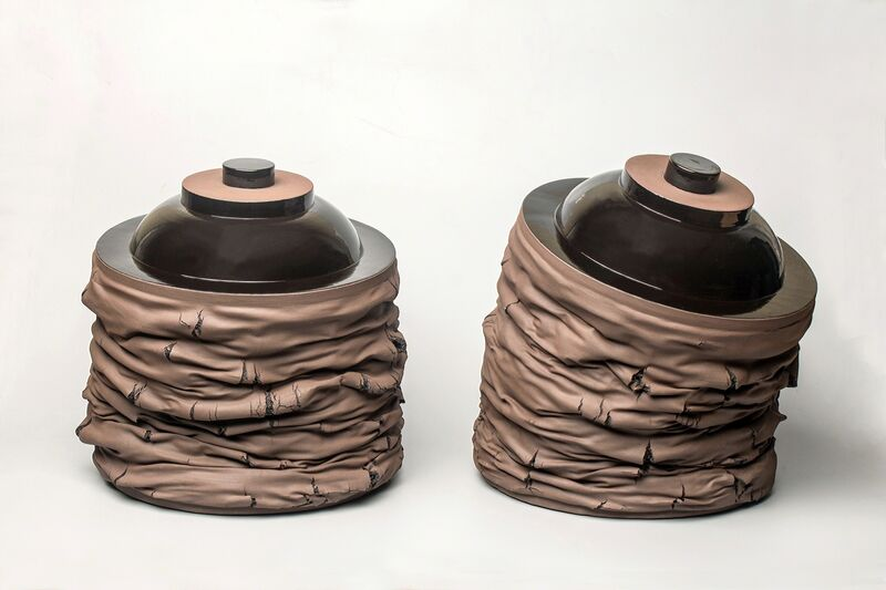 Gregorio Peño, 'Formas Abatidas XXIV', 2014, Sculpture, Mixed media. Melted clay, slip and glaze., Michel Soskine Inc.